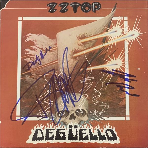 Signed ZZ Top Degüello Album