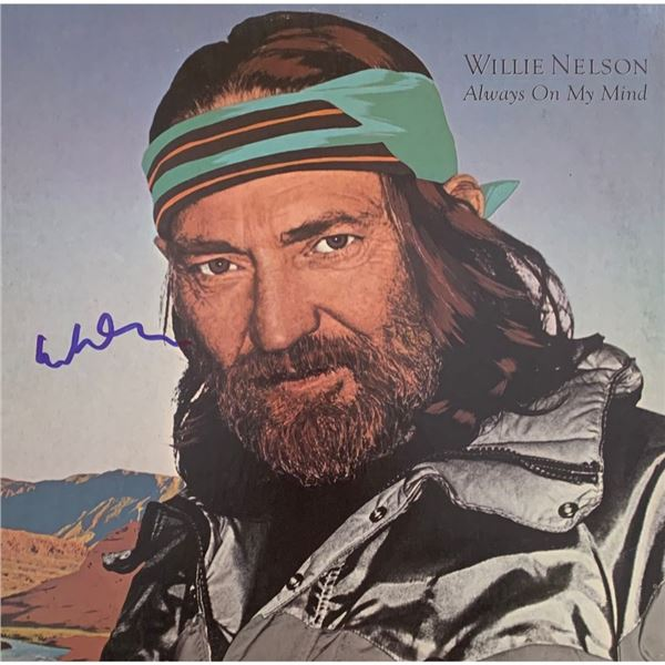 Signed Willie Nelson Always On My Mind Album Cover