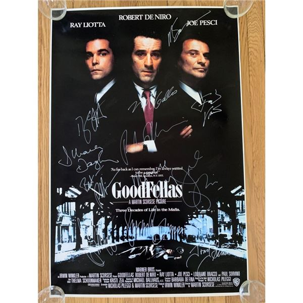 Signed Goodfellas Movie Poster