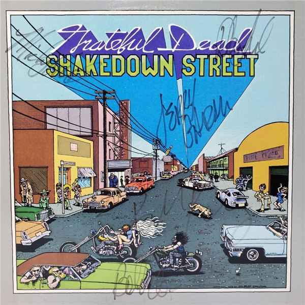 Signed Grateful Dead , Shakedown Street Album Cover