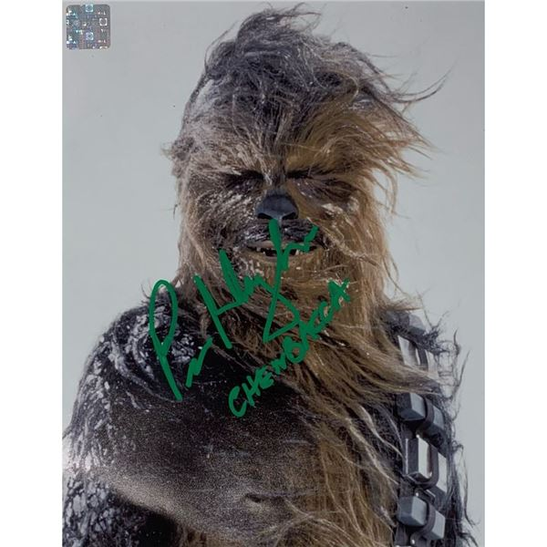 Signed Chewbacca Photo