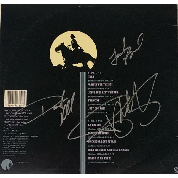 Signed ZZ Top, The Best Of ZZ Top Album Cover