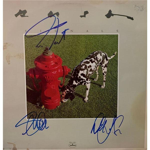 Signed Rush Signals Album Cover