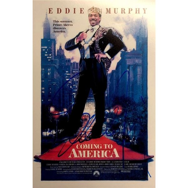 Autographed Eddie Murphy in  Coming to America Movie Photo