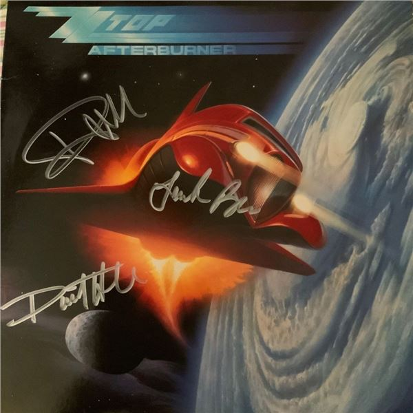 Signed ZZ Top, Afterburner Album Cover