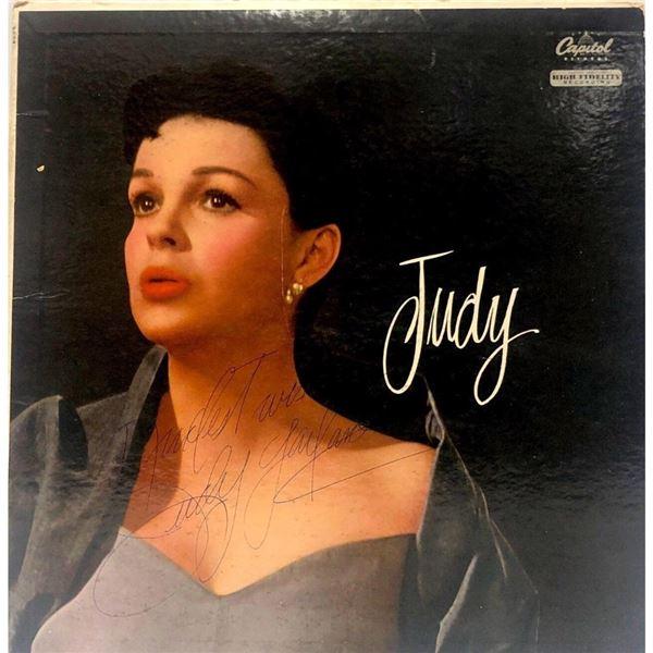 "Signed Judy Garland ""Judy"" Album Cover"