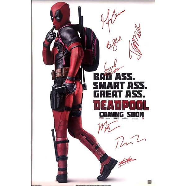 Signed Deadpool Poster