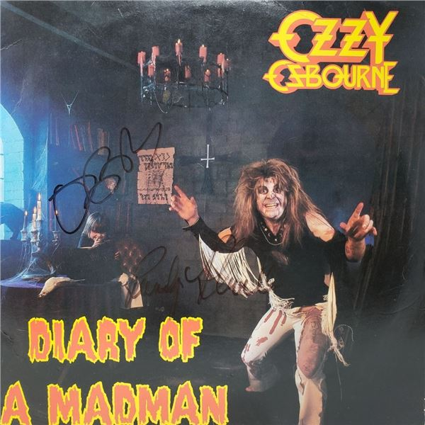 Signed Ozzy Osbourne, Diary of a Madman Album Cover