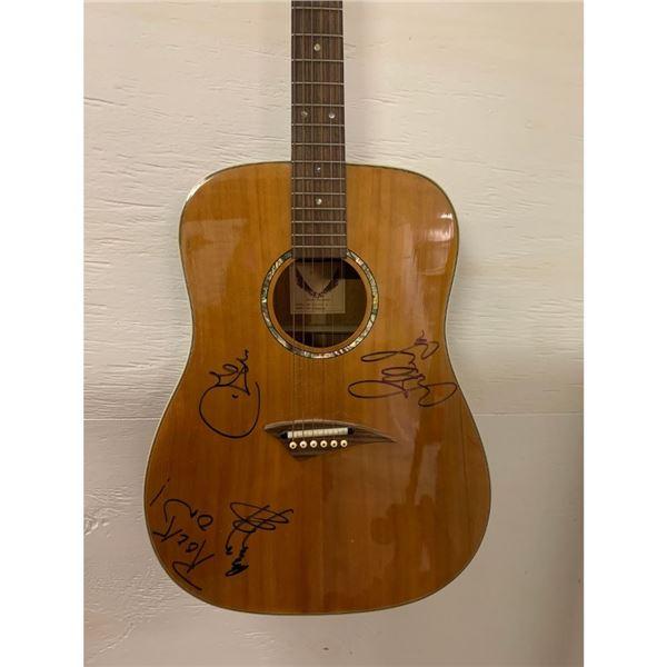 Signed Led Zeppelin Acoustic Guitar