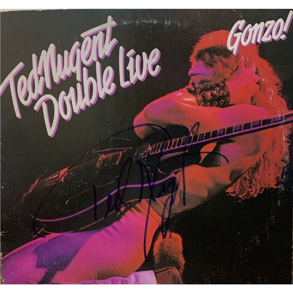 Signed Ted Nugent Douple Live Album Cover