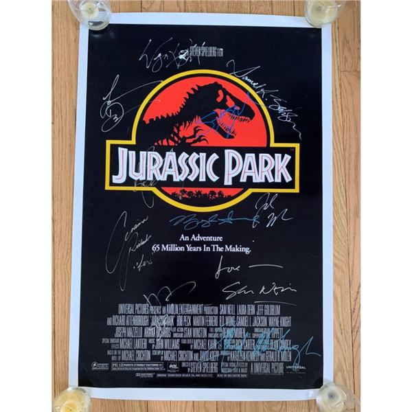 Signed Jurassic Park Movie Poster