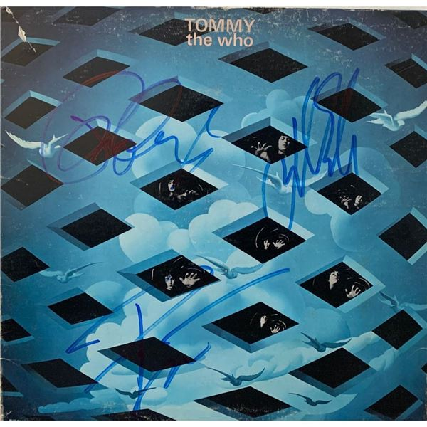 Signed The Who Tommy Soundtrtack Album Cover