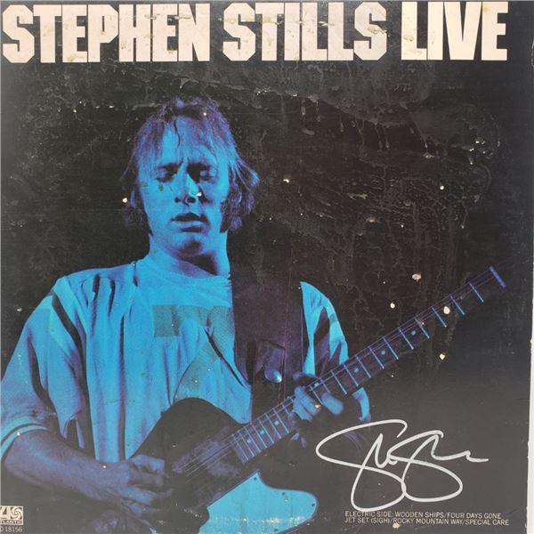 Signed Stephen Stills Live Album Cover
