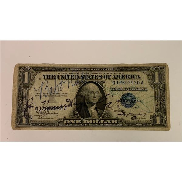Signed Ty Cobb, Babe Ruth Honus Wagner Silver Certificate