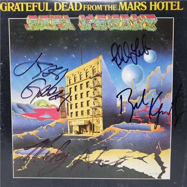Signed Grateful Dead,  Mars Hotel Album Cover