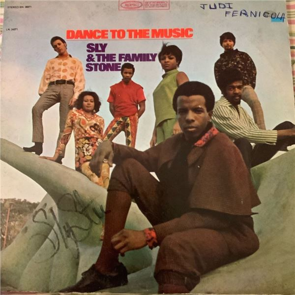Signed Sly & The Family Stone Dance To The Music Album Cover