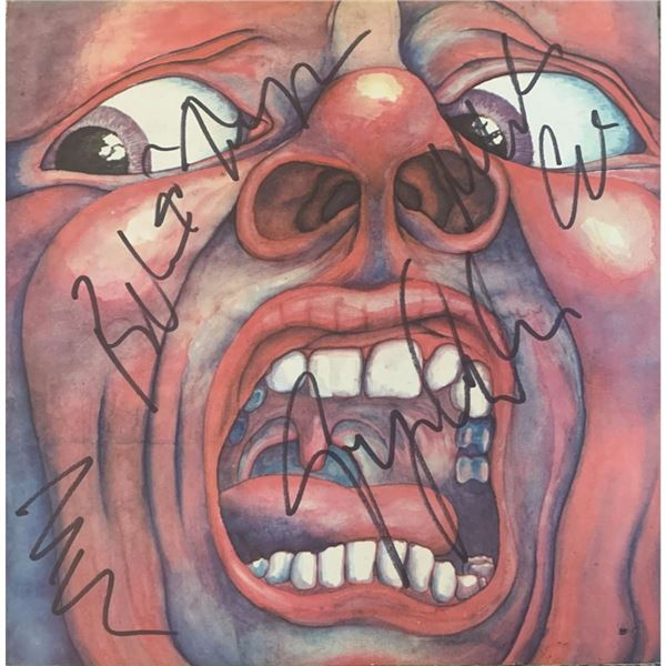 Signed  King Crimson An Observation Album Cover
