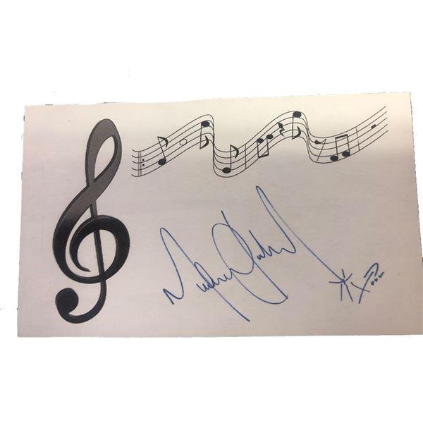 Signed Michael Jackson Notecard