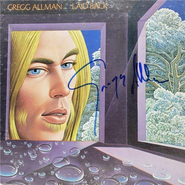 Signed Gregg Allman , Laid Back Album Cover