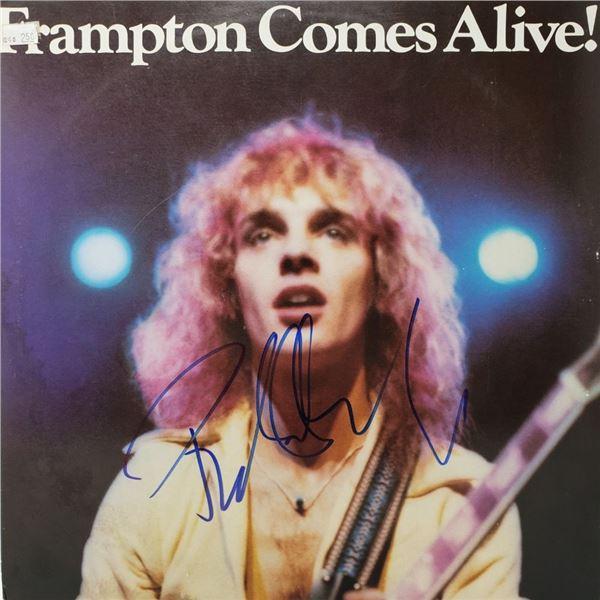 Signed Peter Frampton Frampton Comes Alive Album Cover