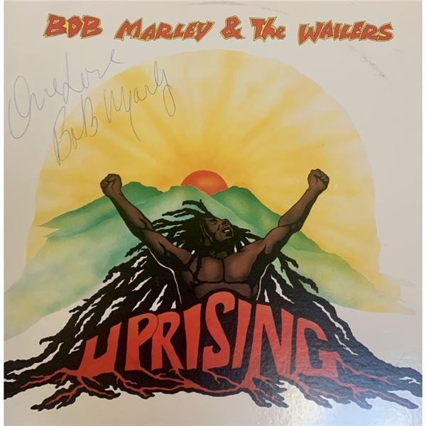 Signed Bob Marley Uprising Album Cover