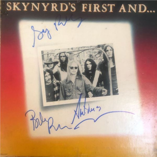 Signed Lynyrd Skynyrd First And Last Album Cover