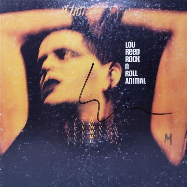 Signed Lou Reed, Rock n Roll Animal Album Cover