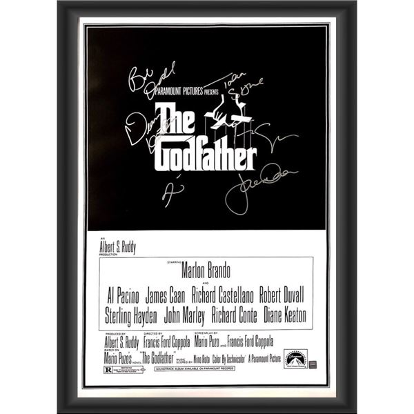 Signed The Godfather Movie Poster