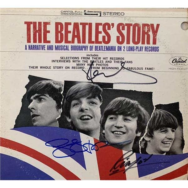 Signed The Beatles Story Album Cover
