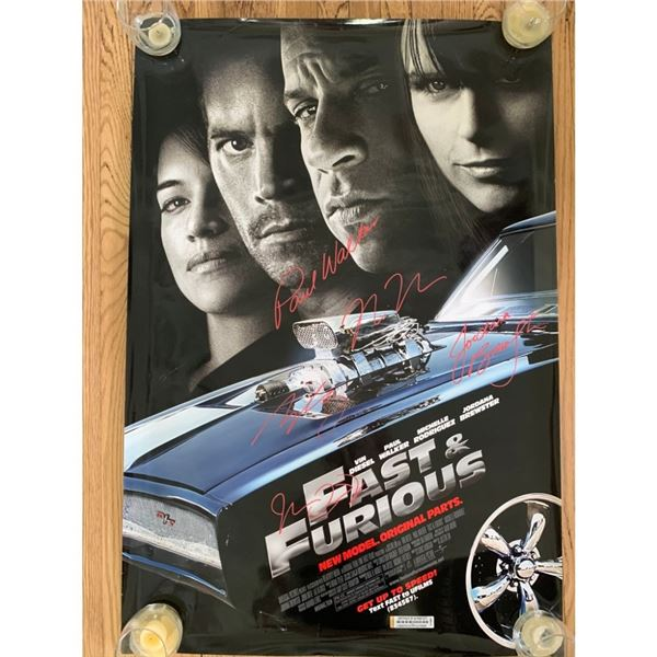 Signed Fast & Furious Movie Poster