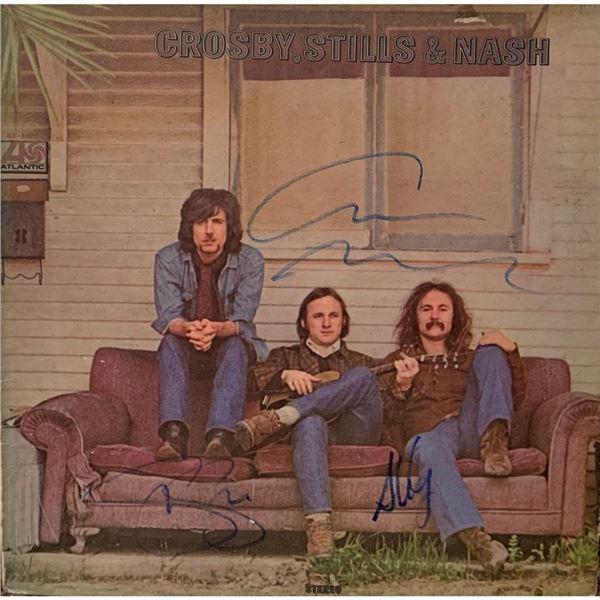 Signed Crosby, Stills & Nash Album Cover