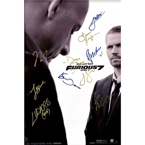 Signed Furious 7 Poster
