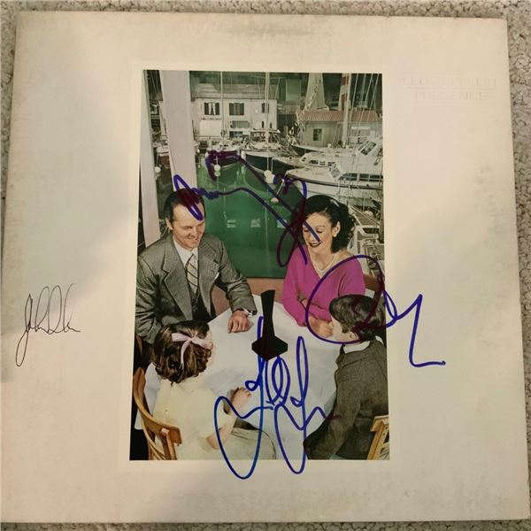 Signed Led Zeppelin Presence Album