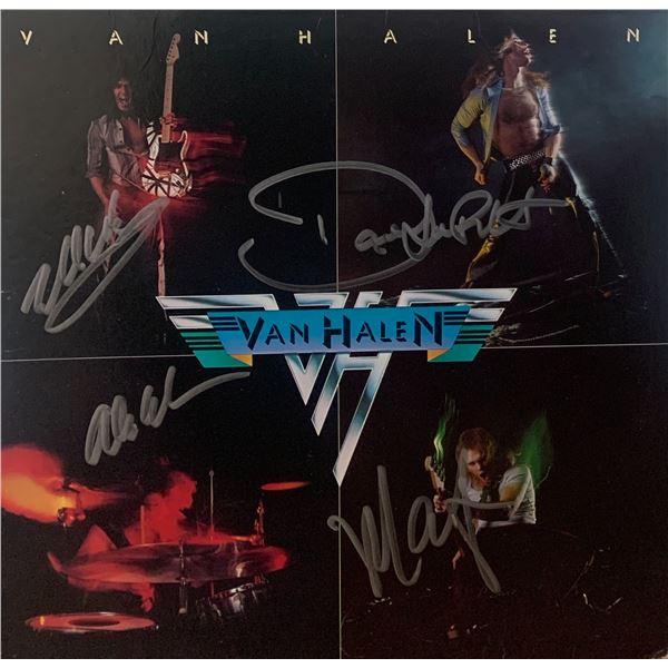 Signed Van Halen Album Cover