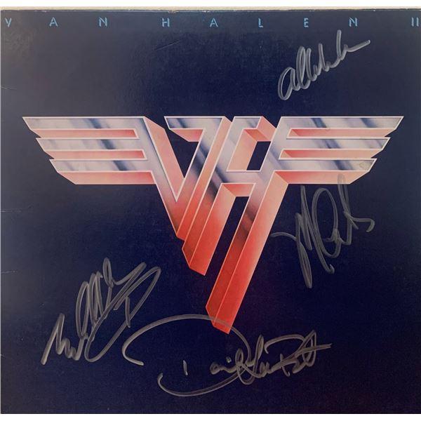 Signed Van Halen II Album Cover