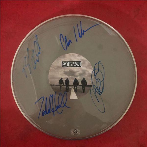 Signed 3 Doors Down Drumhead