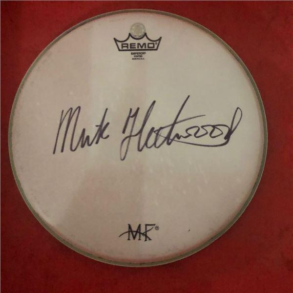 Signed Fleetwood Mac Mick Fleetwood Drumhead
