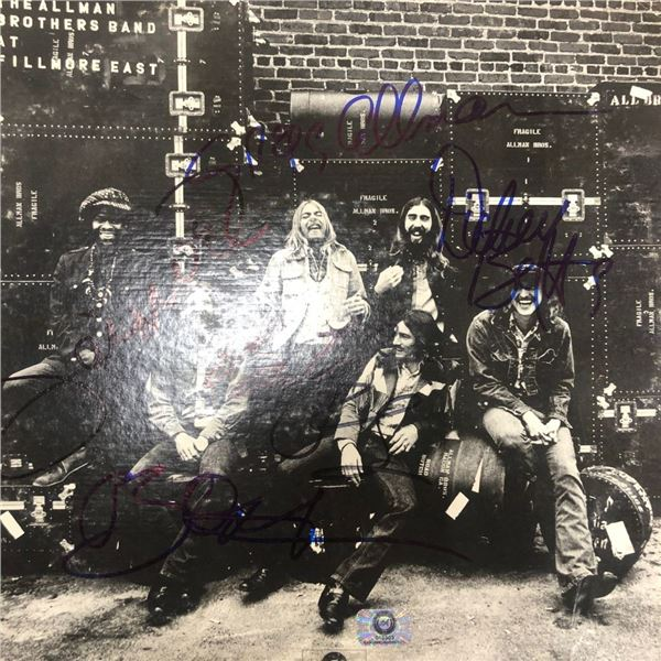 Signed Allman Brothers Filmore East Album Cover