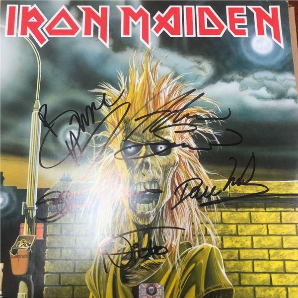 Signed Iron Maiden Album Cover