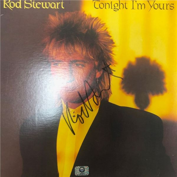 Signed Rod Stewart Tonight I'm Yours Album Cover