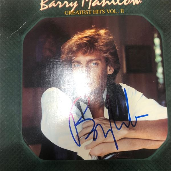 Signed Barry Manilow Greatest Hits Vol II Album Cover
