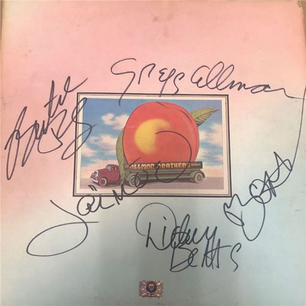 Signed Allman Brothers Eat A Peach Album Cover