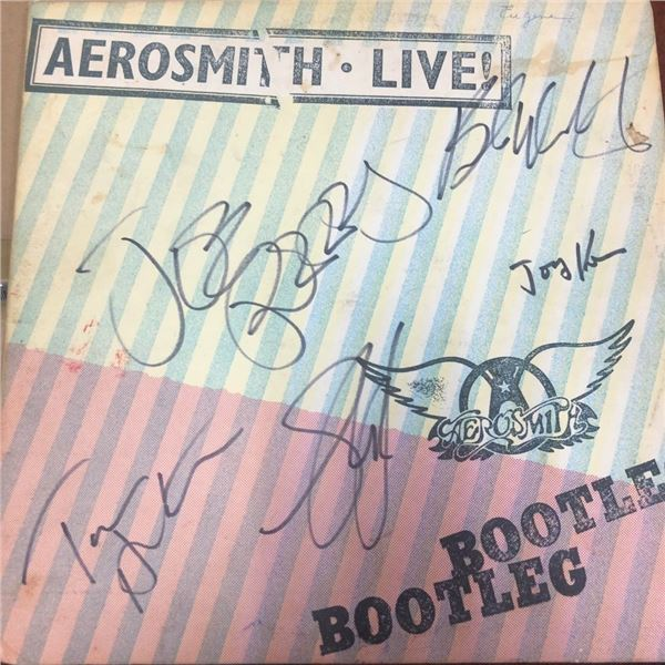 Signed Aerosmith Live Bootleg Album Cover