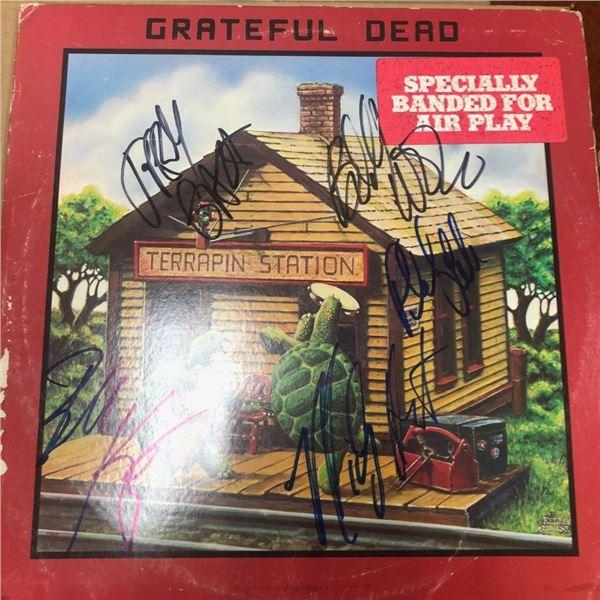 Signed Grateful Dead Terrapin Station Album Cover