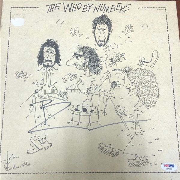 Signed The Who By Numbers Album Cover