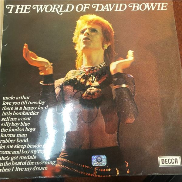 Signed The World Of David Bowie Album Cover