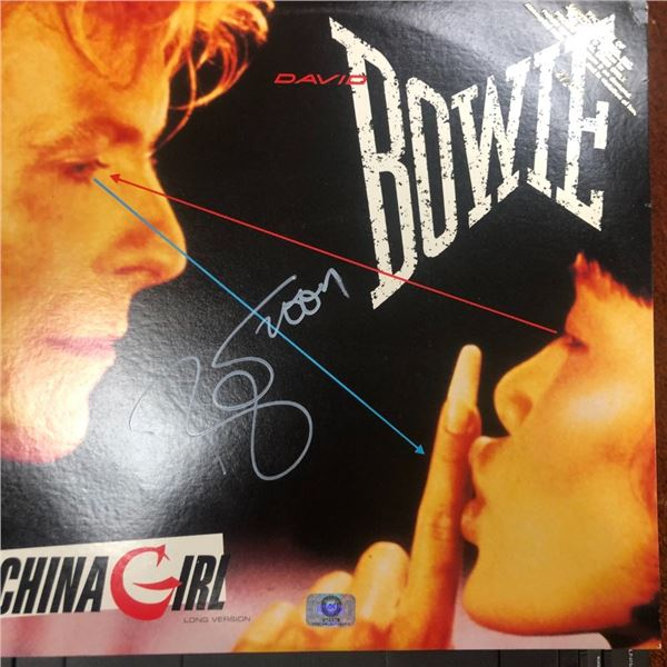 Signed David Bowie China Girl Album Cover
