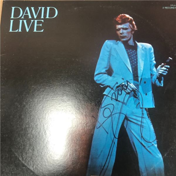 Signed David Bowie David Live Album Cover