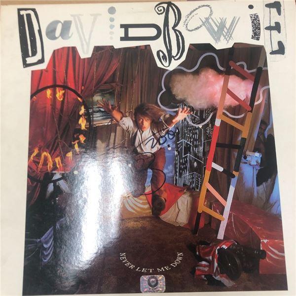 Signed David Bowie Never Let Me Down Album Cover