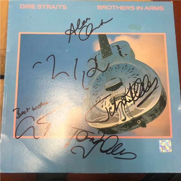 Signed Dire Straits Brothers In Arms Album Cover